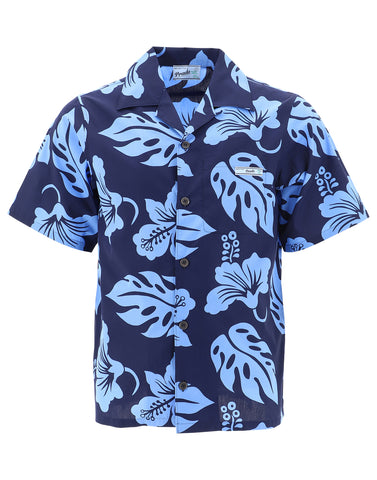 Prada Floral Print Short Sleeved Shirt