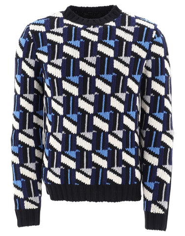 Prada Geometric Crewneck Sweater
