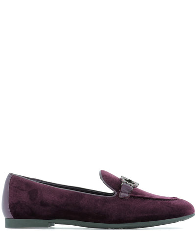 Salvatore Ferragamo Crystal Embellished Gancini Loafers