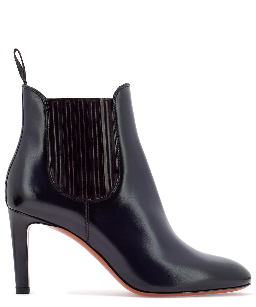 Santoni Heeled Ankle Boots In Blue