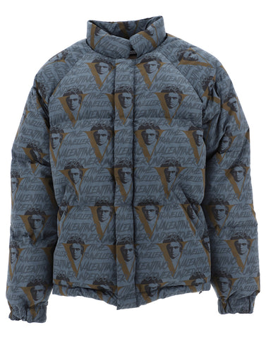 Valentino X Undercover Logo Printed Down Jacket
