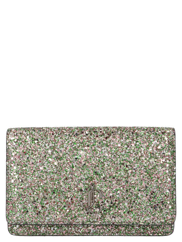 Jimmy Choo Palace Glitter Embellished Crossbody Bag
