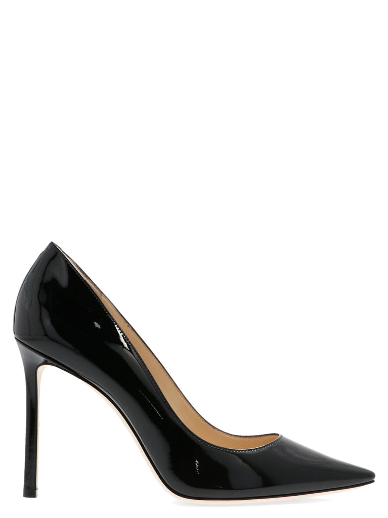 Jimmy Choo Women's Romy100patblack Black Leather Pumps