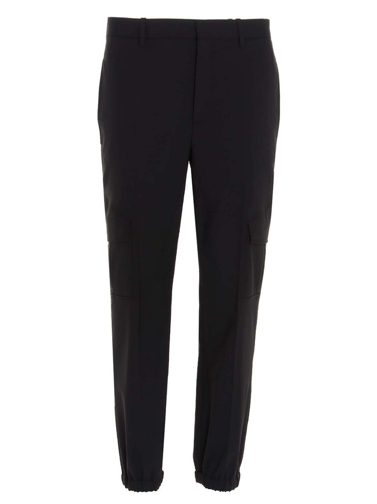 Neil Barrett Tailored Cargo Trousers In Black