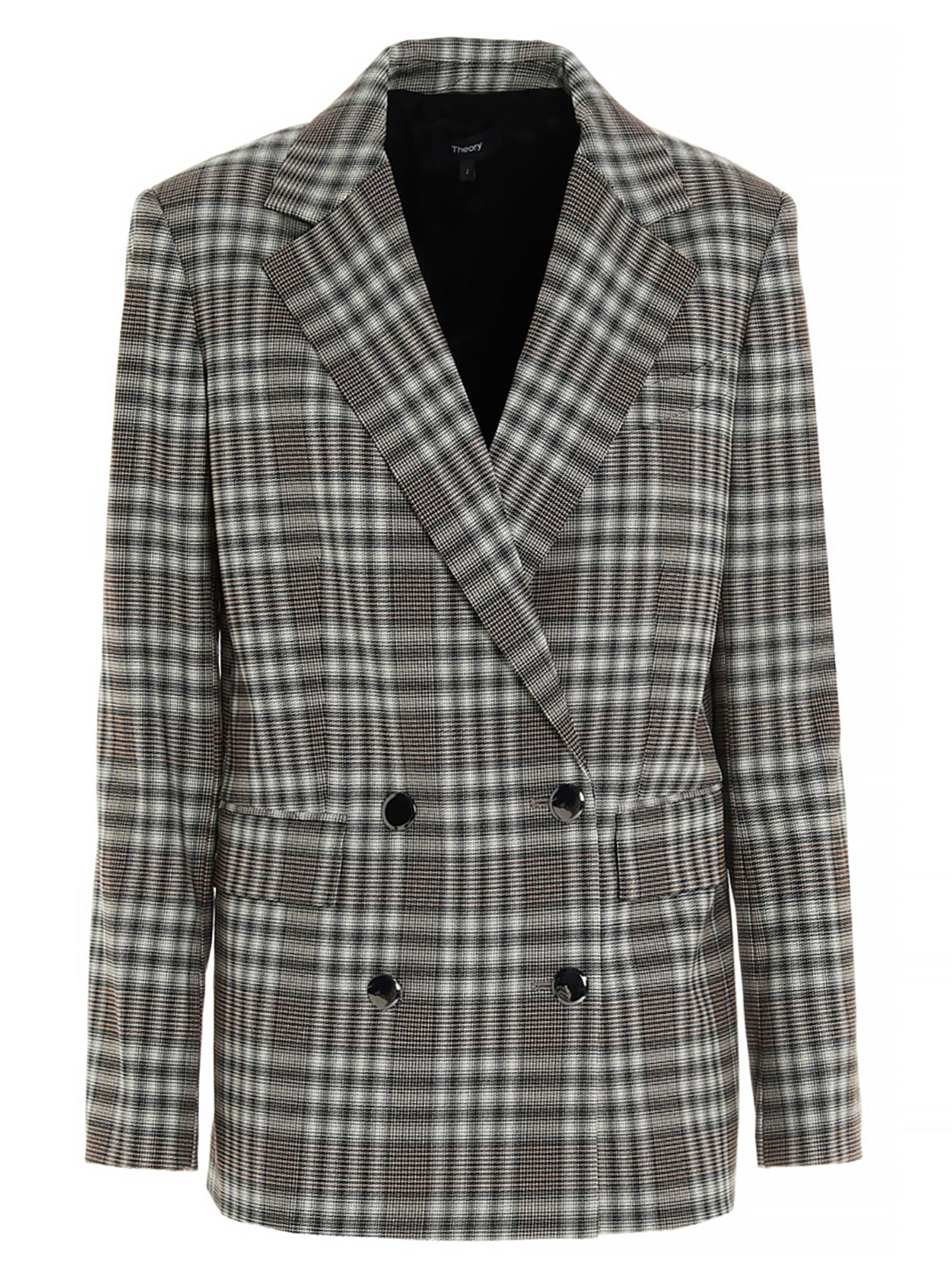 Theory THEORY PLAID PIAZZA JACKET