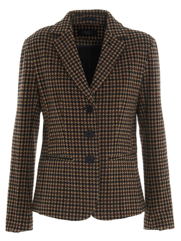Weekend Max Mara Single-Breasted Houndstooth Blazer