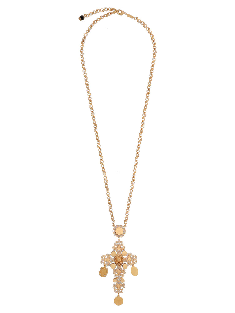 DOLCE & GABBANA Necklaces DOLCE & GABBANA CROSS PENDANT NECKLACE