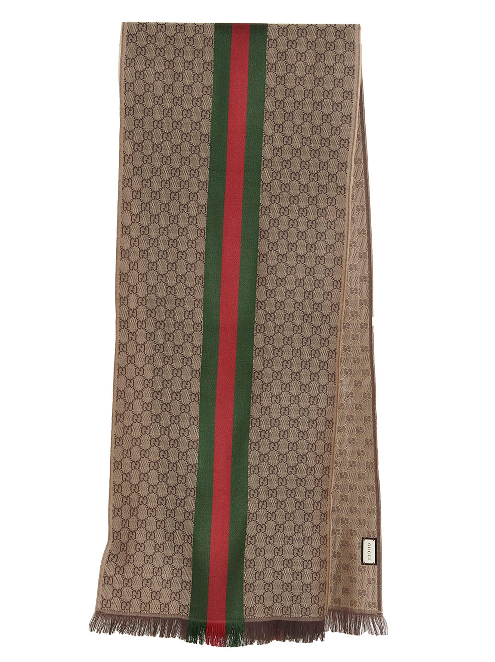 Gucci Scarves GUCCI GG JACQUARD KNITTED SCARF