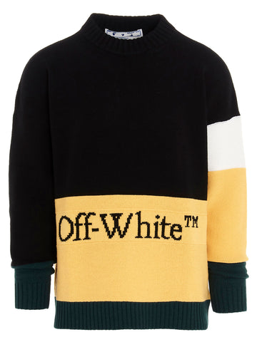 Off-White Logo Colour Block Sweater