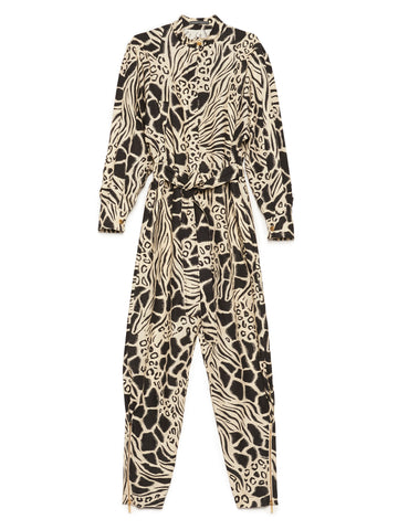 Alberta Ferretti Animal Print Jumpsuit