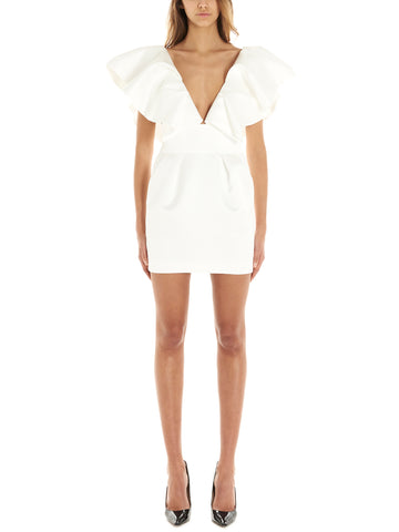 Alexandre Vauthier Ruffled Shoulder Dress