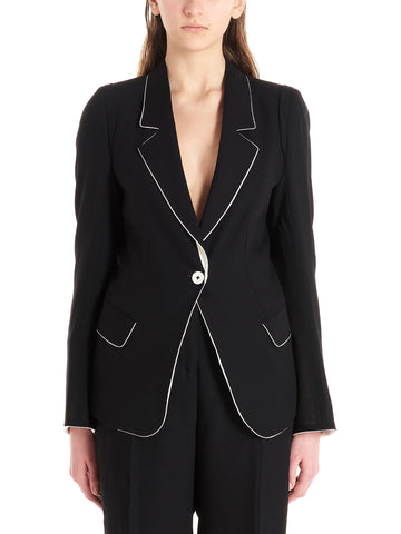 Ann Demeulemeester Single-Breasted Fitted Blazer