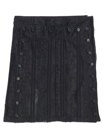 Ann Demeulemeester Buttoned Sheer Mini Skirt