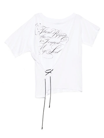 Ann Demeulemeester Lace-Up T-Shirt