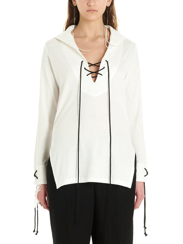 Ann Demeulemeester Lace-Up Asymmetric Top