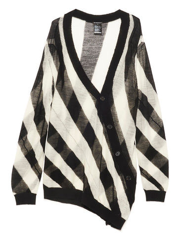 Ann Demeulemeester Striped Knitted Cardigan