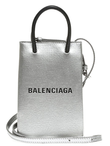 Balenciaga Shopping Phone Holder Crossbody Bag