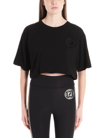 Fendi FF Motif Crop Top