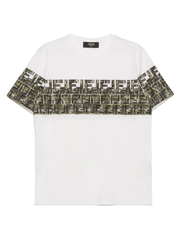 Fendi FF Logo Panel T-Shirt