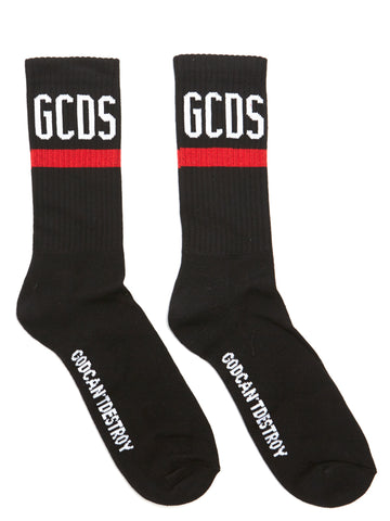 GCDS Logo Ribbed Socks