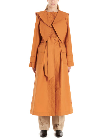 Lanvin Scarf Collar Belted Trench Coat