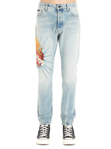 Palm Angels Scared Heart Jeans