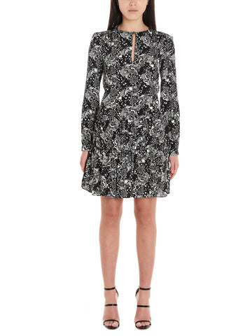 Pinko All Over Print Long Sleeved Dress