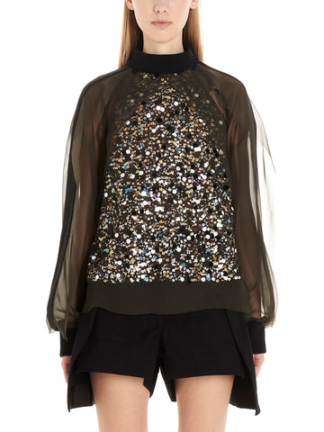Sacai Sequinned Top