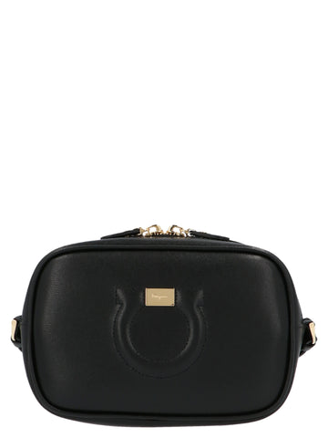 Salvatore Ferragamo City Gancio Logo Crossbody Bag