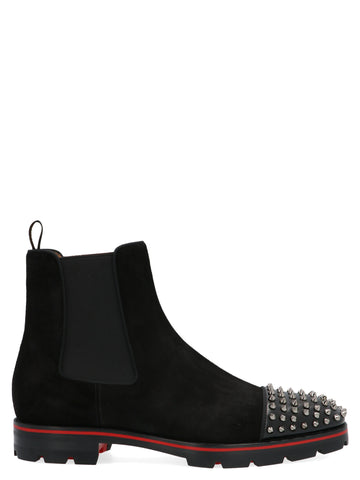 Christian Louboutin Melon Spikes Ankle Boots