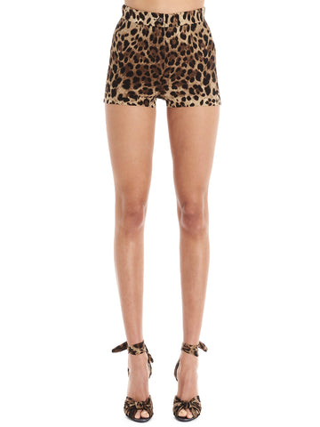 Dolce & Gabbana Animal Print Shorts