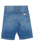 Dolce & Gabbana Distressed Denim Shorts