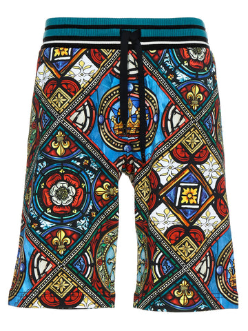 Dolce & Gabbana Stained Glass Window Bermuda Shorts