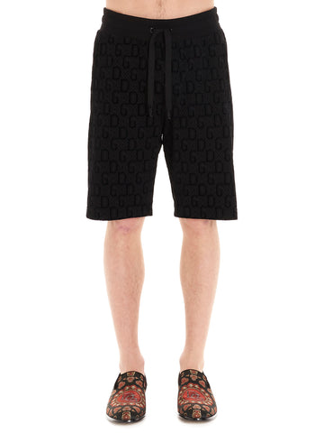 Dolce & Gabbana All Over Logo Bermuda Shorts
