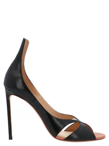 Francesco Russo Crossover Stiletto Sandals