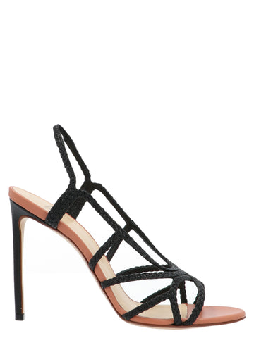 Francesco Russo Braided Strap Sandal