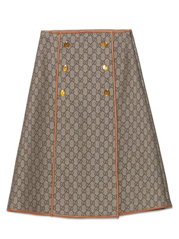 Gucci GG Pattern High Waist Skirt