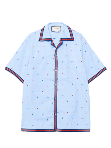Gucci Web Trim Short Sleeve Shirt