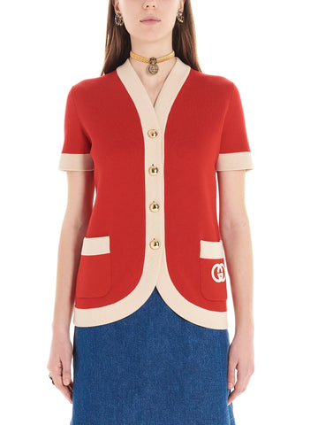 Gucci Contrasting Piping Cardigan