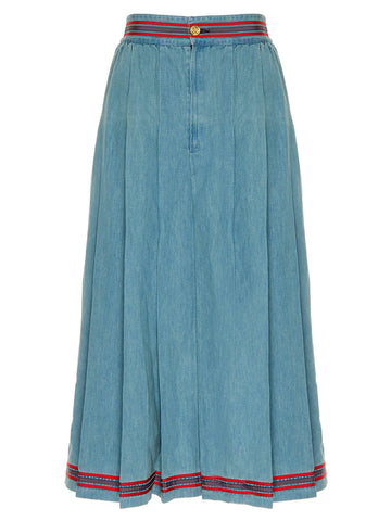 Gucci Denim Midi Skirt