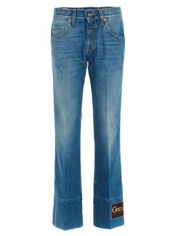 Gucci Stonewashed Flare Jeans