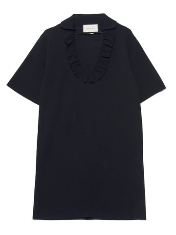 Gucci Square G Buckle Ruffled Dress