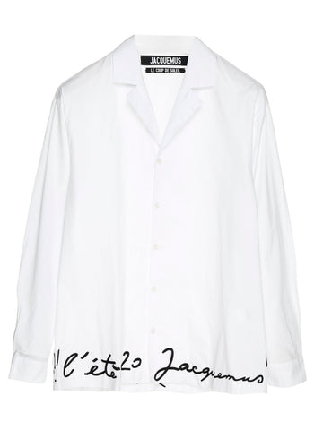 Jacquemus Logo Embroidered Shirt