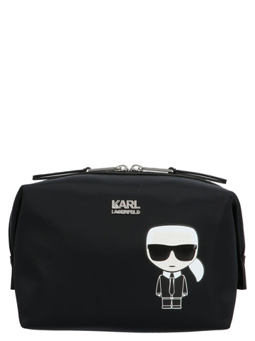 Karl Lagerfeld Printed Toiletry Bag