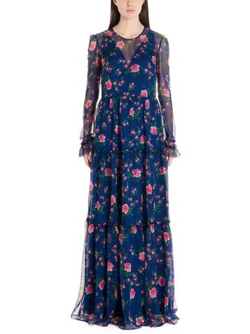 Philosophy Di Lorenzo Serafini Rose Printed Dress