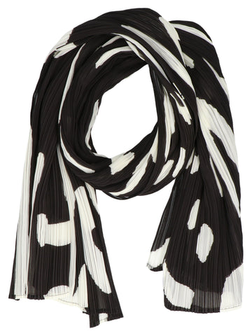 Pleats Please By Issey Miyake Printed Pleated Scarf
