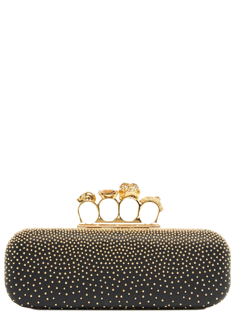 Alexander Mcqueen Leathers ALEXANDER MCQUEEN FOUR RING CLUTCH BAG