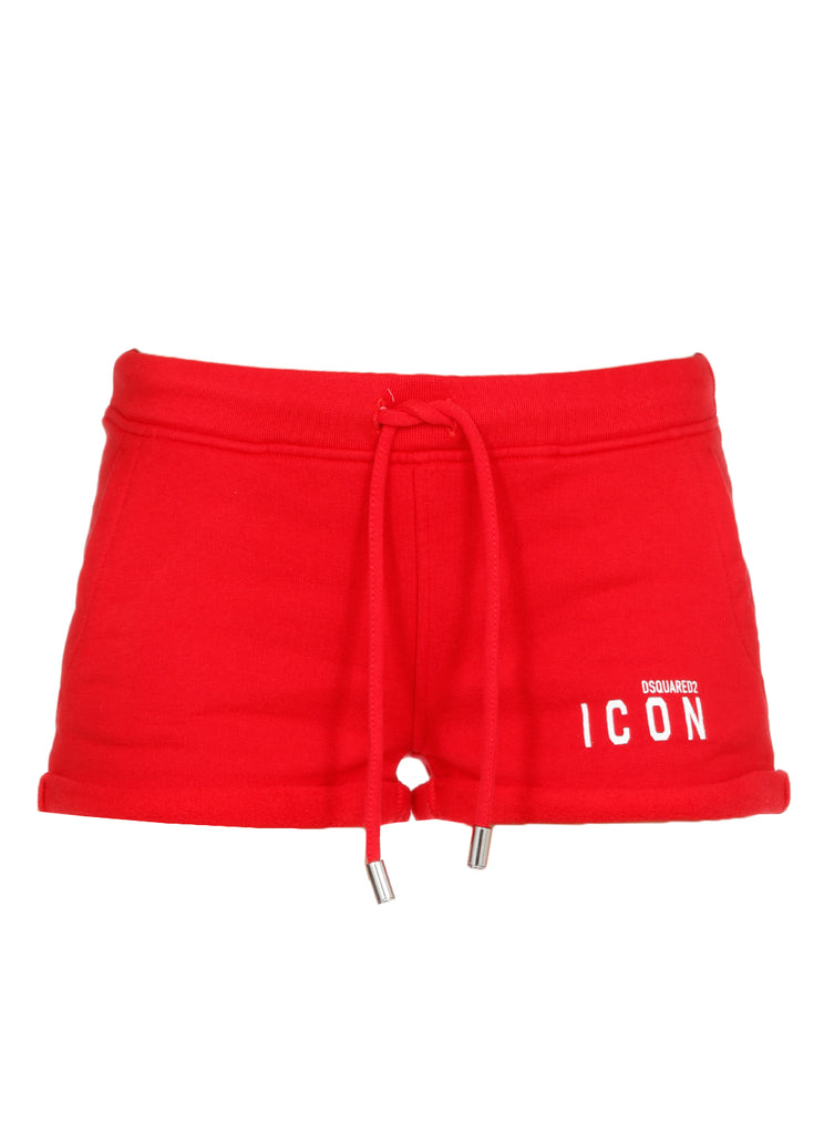 Dsquared2 Icon Logo Printed Shorts In Red
