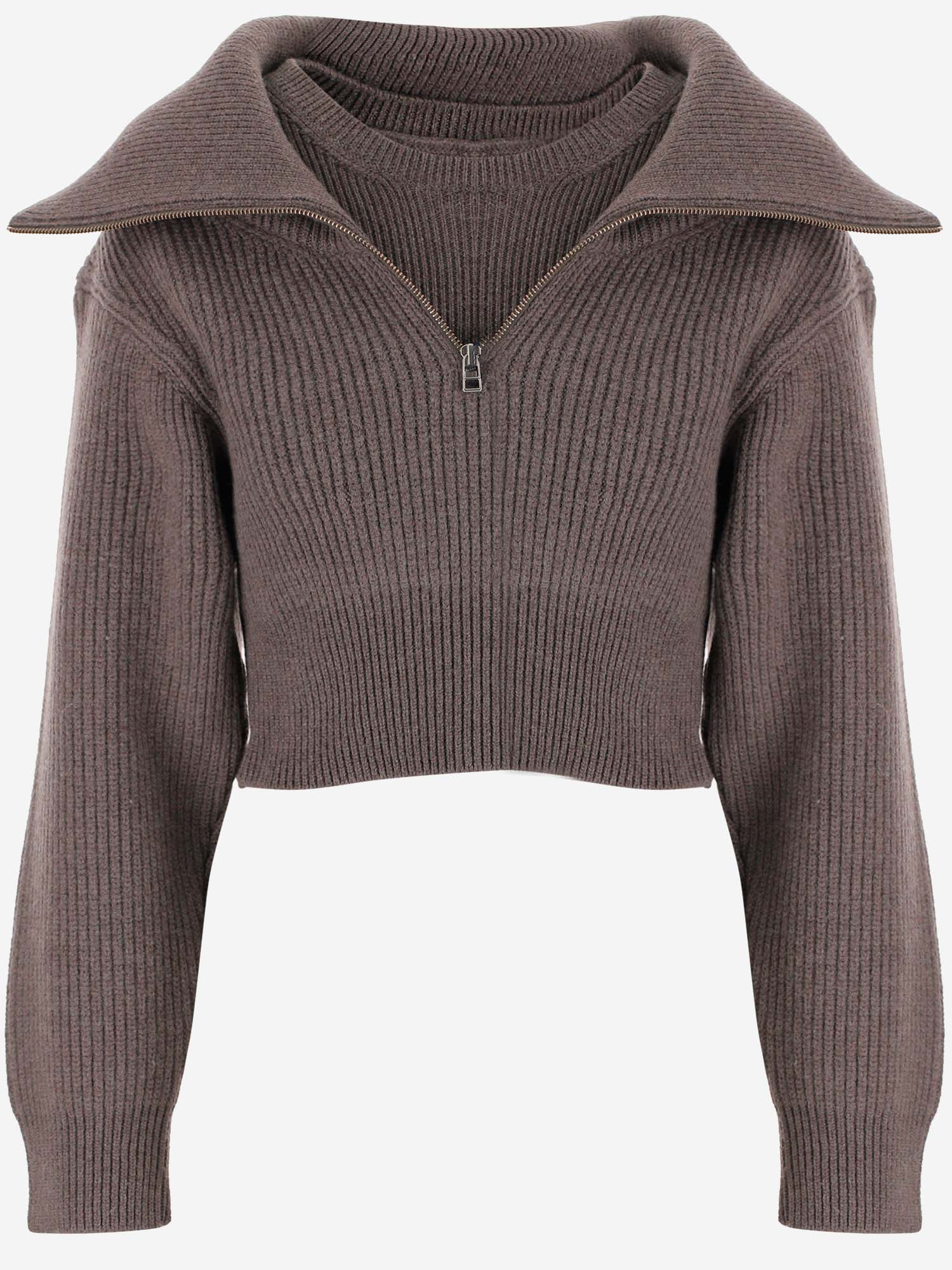 JACQUEMUS JACQUEMUS RISOUL ZIPPED SWEATER