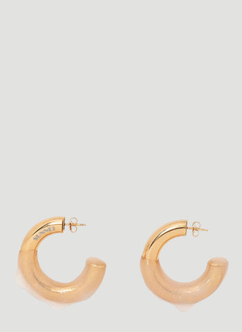Sunnei Rubberised Hoop Earrings